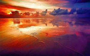 beautiful rainbow colored landscapes: prism painted beach ...