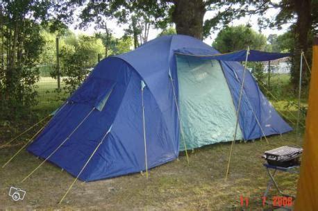 tente 2 chambres 4 places toile de tente marechal bleue 6 places
