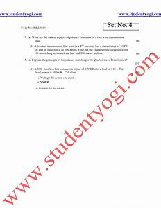 Electronic Magnatic Waves And Transmission Lines Jntu