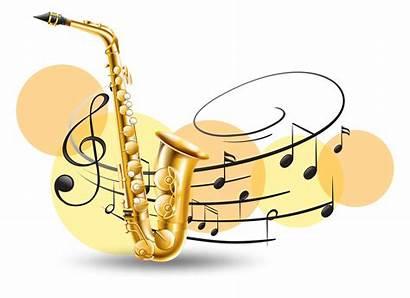 Saxophone Notes Golden Background Happy Birthday Illustration