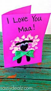 Fingerprint Sheep Mother's Day Card Idea - Sassy Dealz ...