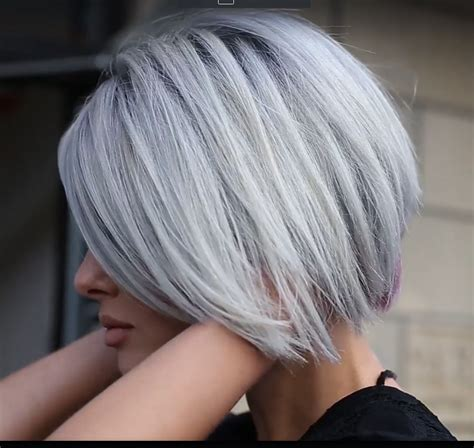 undercut bob 19154 platinum hair 4 in 2019 coiffure cheveux and cheveux gris