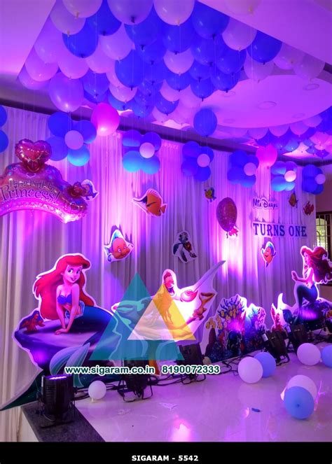 mermaid themed birthday decoration  celebration