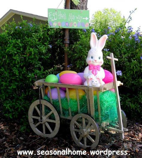 cool diy outdoor easter decorating ideas