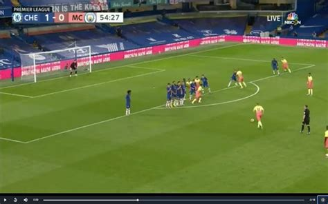 Video: De Bruyne scores free-kick for City vs ex-club Chelsea