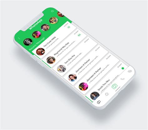 Whats App Redesign Concept PSD