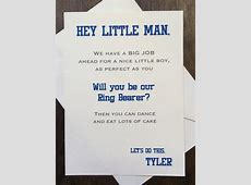 Ring Bearer Card Invite Will you be my Ring Bearer Funny