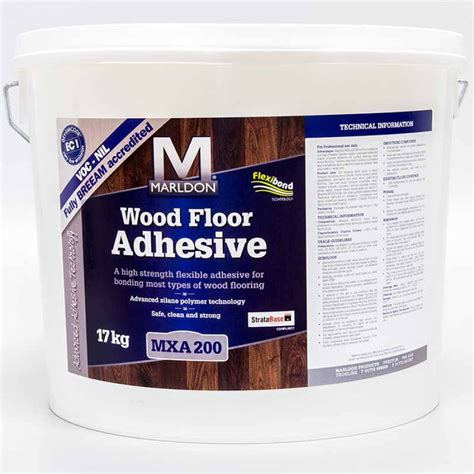 wood flooring adhesive marldon mxa200 flexible wood flooring adhesive 17kg