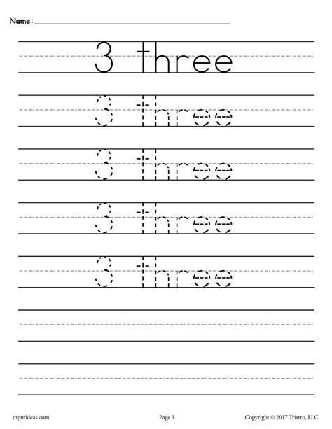 Number Tracing Worksheets 120 Supplyme