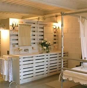 Dressing En Palette : pallet room divider provides solitude while working ~ Melissatoandfro.com Idées de Décoration