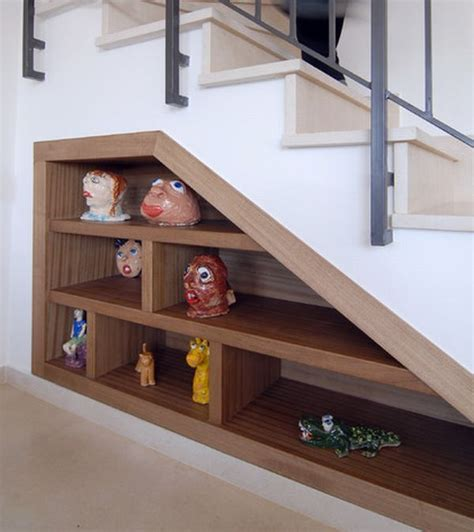 Stairs Shelf Ideas For Book Storage by 40 Stairs Storage Space And Shelf Ideas To Maximize