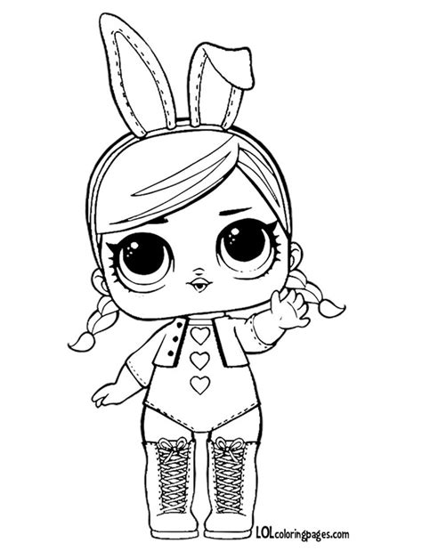 Kleurplaat Lol by Lol Dolls Coloring Pages Sketch Coloring Page