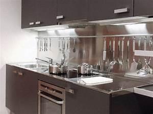 Credence Cuisine Moderne : cuisine cr dence moderne en inox ~ Dallasstarsshop.com Idées de Décoration