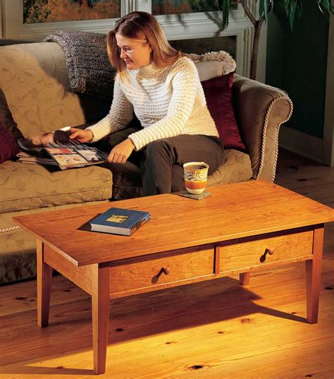 drawer coffee table popular woodworking magazine