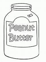 Peanut Coloring Butter Pages Printable Template Peanuts Jar Gang Popular Templates Sketch Getdrawings sketch template