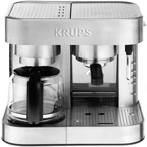krups stainless steel thermoblock combination coffee maker espresso machine cutlery