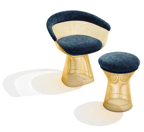 Dining Chair Upholstery by Platner Gold Inspiration Knoll