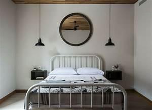 Lit Chevet Suspendu : 1001 id es pour une lampe de chevet suspendue dans la chambre coucher ~ Teatrodelosmanantiales.com Idées de Décoration