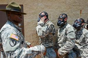Basic Combat Training Soldiers go through gas chamber ...