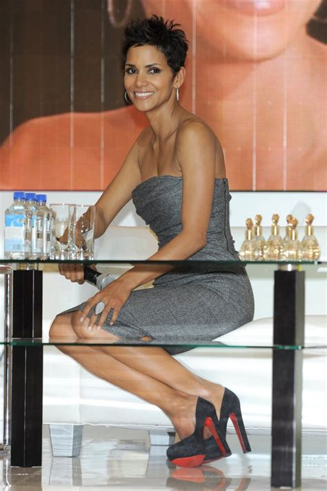 halle berry promotes   fragrance