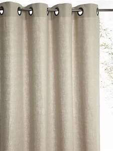 Double Rideau Blanc : rideaux brise bise voilage rideau en lin cyrillus ~ Nature-et-papiers.com Idées de Décoration
