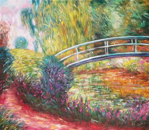 Japanischer Garten Claude Monet by Claude Monet Japanese Bridge 100x100 Painting