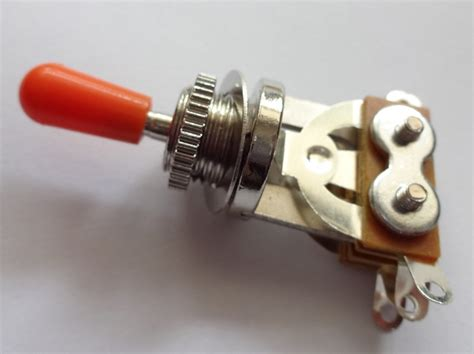 Red Orange Tip Les Paul Way Toggle Switch New