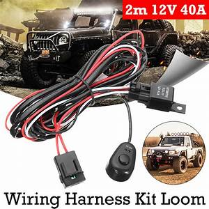 New Wiring Harness Kit With Relay On
