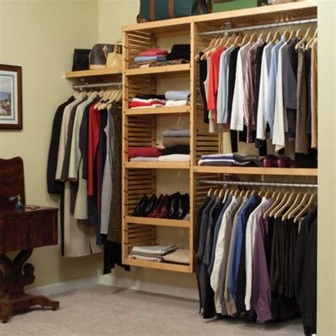 new solid wood walk in closet organizer shelving system