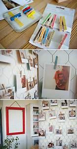 Faire Un Pele Mele : p le m le photos faire soi m me un cadeau personnalis et touchant encadrement pour photos ~ Mglfilm.com Idées de Décoration