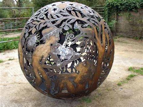 steel iron spherical globe  ball  shaped