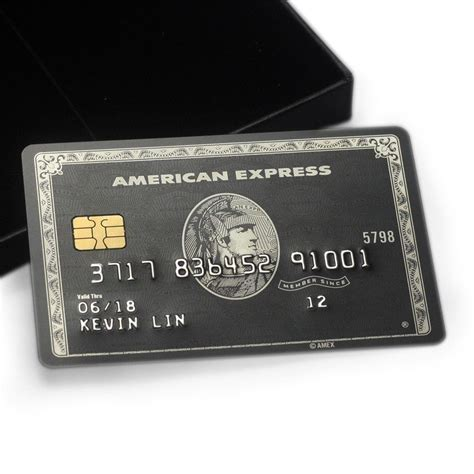 The centurion card from american express, also referred to as the amex black card, is a former charge card that comes with an initiation fee of $10,000 and an annual membership fee of $5,000. American Express Centurion Amex Black Card TOP QUALITY Customisable Free DHL - Credit, Charge ...