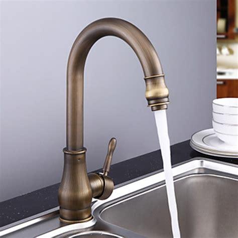 antique brass kitchen faucet antique brass rubbed bronze finish single handle