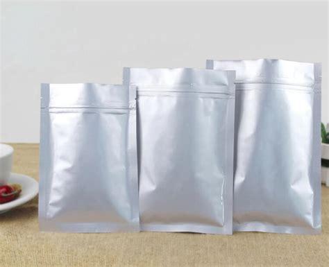 cm silver aluminum foil bag zip lock pouch dried food snack cookies packaging bag