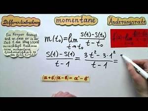 Momentane änderungsrate Berechnen : differentialrechnung momentane geschwindigkeit eines k rpers berechnen youtube ~ Themetempest.com Abrechnung