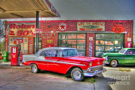 50s Car Wallpaper 1080p by Vintage 50 S Route 66 Photograph By