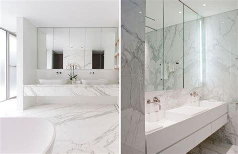 Badezimmer Spiegelschrank Trends by Gro 223 Formatige Marmor Fliesen In Wei 223 Im Badezimmer