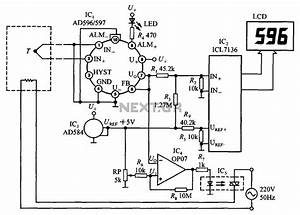 Thermocouple Cold Junction Compensator Ad596 597 A Circuit Diagram Of Temperature Monitor Under