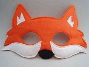 fox mask orange fox woodland animal mask fox costume With fantastic mr fox mask template