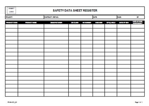 project management spreadsheet template register safety data sheet allsafety management services