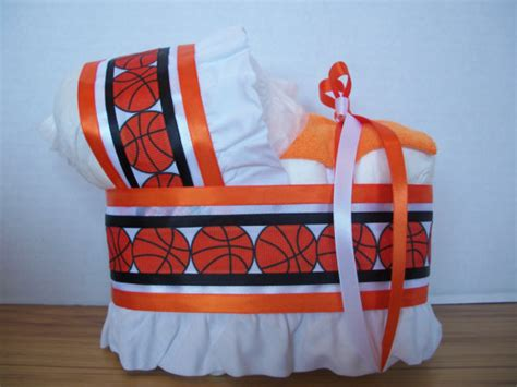 basketball sports theme boy diaper bassinet baby shower