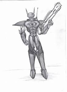 robot soldier model:GUN by noideasfornicknames on DeviantArt