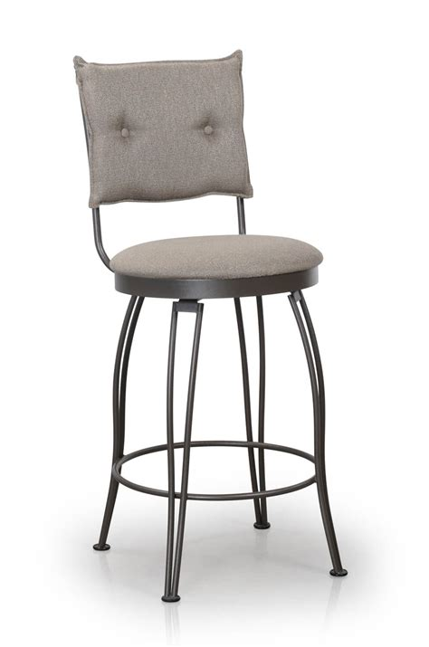 trica bill swivel stool  button tufted upholstered