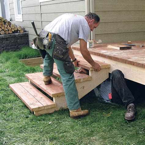 fabriquer escalier et garde corps pour le patio en 233 jardinage et ext 233 rieur pratico