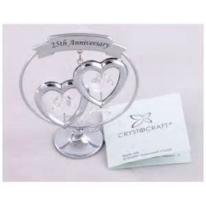 25th wedding anniversary gift ideas crystocraft keepsake gift ornament 25th silver wedding anniversary with swarvoski