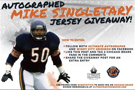 Win an autographed Mike Singletary jersey! - Windy City ...