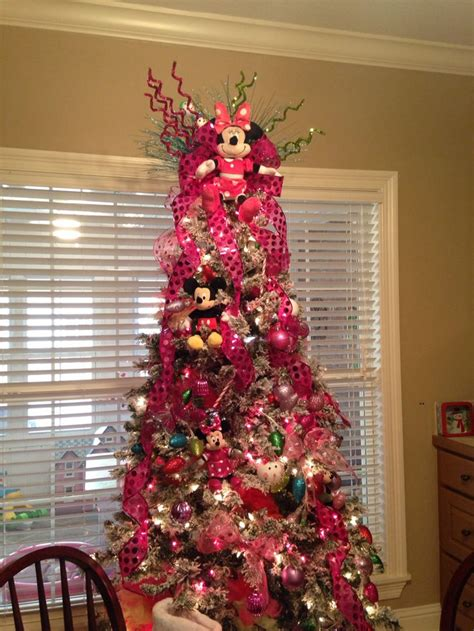 minnie mouse christmas tree turned   cute