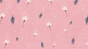 Free Wallpaper: Dainty Falling Flowers