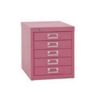 glo by bisley soho multidrawer cabinet 5 drawer h325mm pink