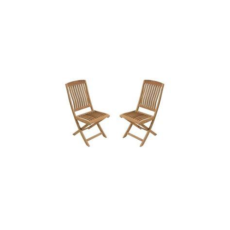 chaise en teck pliante chaise pliante rias en teck fsc lot de 2 plantes et